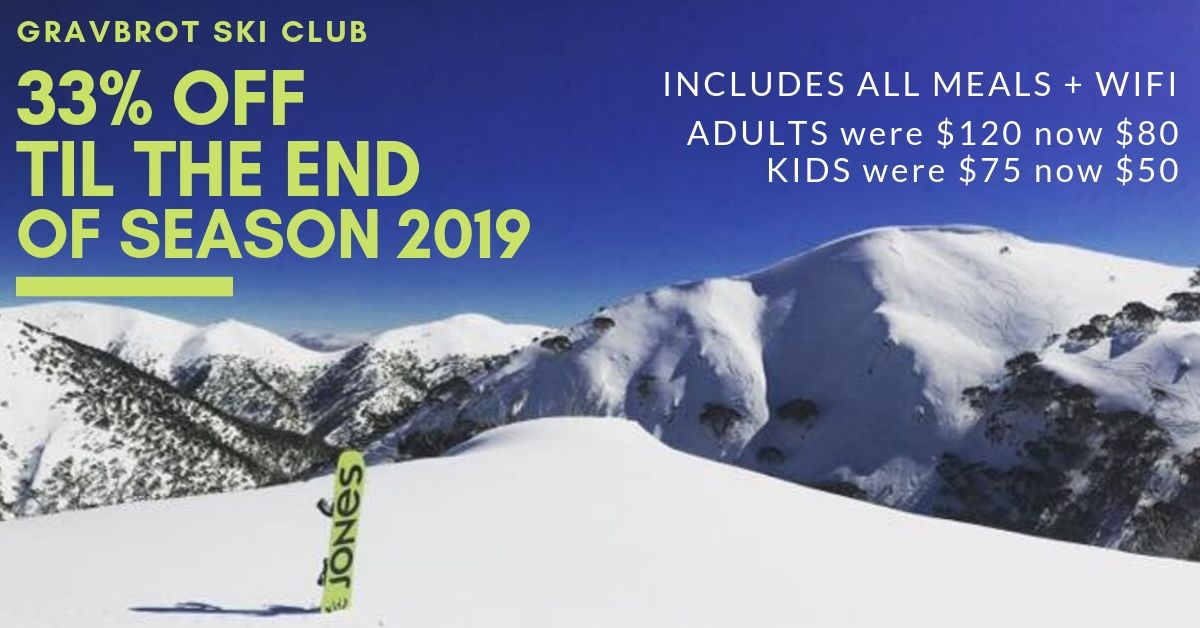 End Of Season Deal 2019 | Gravbrot Ski Club